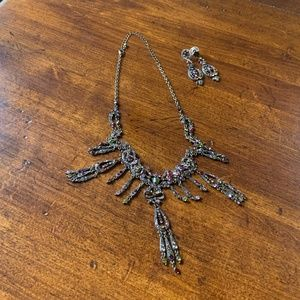 Sparkling Necklace and earrings set